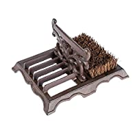 Homescapes Cast Iron Boot Brush & Scraper Heavy Weight Shoe Brush for Indoor and Outdoor Use
