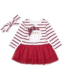 SUCES 2018 Baby Weihnachten Bedrucktes Tutu Tüll Kleid + Stirnbänder Set Mädchen 2 Stück Outfits Neugeborenen Warme Prinzessin Schön Kleidung