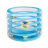 HQCC Transparenter Runder aufblasbarer Swimmingpool des Erwachsenen Schaumbad-Massagebadebadezimmers Durchmesser 100cm (größe : 100 * 72cm)