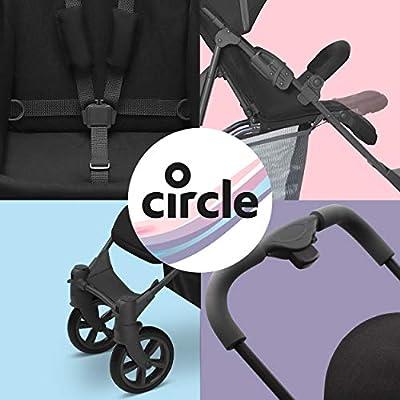 Circle Buggy - Treviso 4 - leichter Sportwagen mit Liegeposition, Kinderbuggy bis max. 15 kg, Reisebuggy, Kinderwagen klein zusammenklappbar - Woven Black