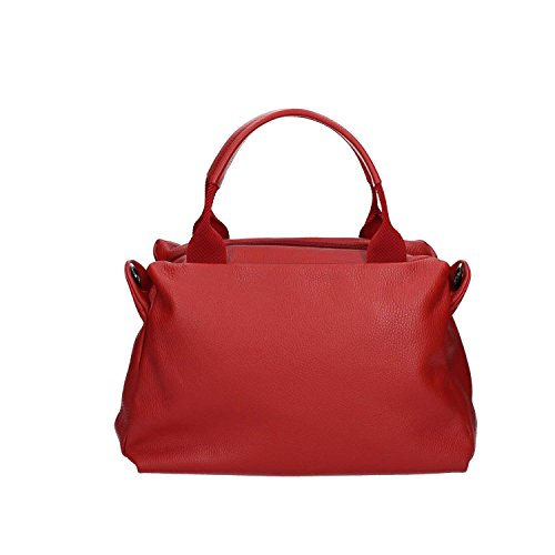 Mandarina Duck Damen Mellow Leather Tracolla Schultertasche, 10x25x35 cm Brick Red