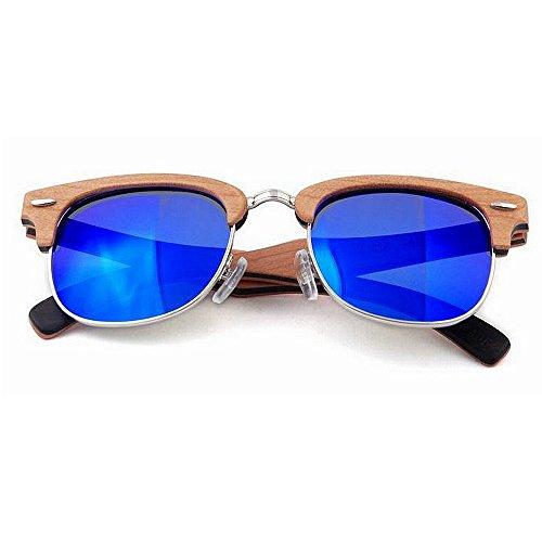 Ppy778 Bambus polarisierte Sonnenbrille Männer Frauen Holz Gläser für Wassersport und Outdoor-Aktivitäten (Color : Green)