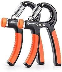 VOYAGO Handtrainingsgerät Strength Trainer 2-Pack Strength Trainer Handgriffstärker Einstellbarer Widerstand 10kg / 22 lbs bis 40kg (Orange)