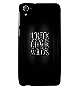 PrintDhaba Quote D-2992 Back Case Cover for HTC DESIRE 826 (Multi-Coloured)