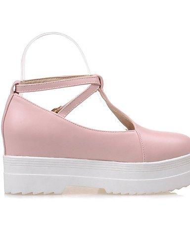 WSS 2016 Chaussures Femme-Bureau & Travail / Décontracté-Bleu / Rose / Beige-Talon Bas-Confort / Bout Arrondi-Chaussures à Talons-Polyuréthane beige-us5 / eu35 / uk3 / cn34