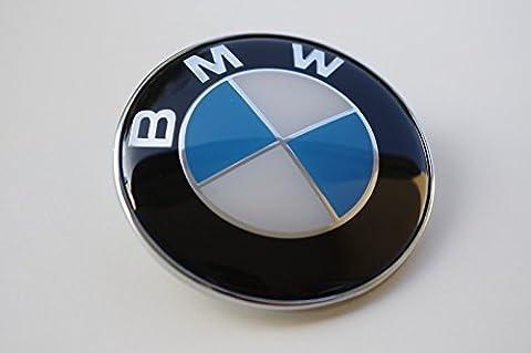BMW HAMANN 82MM HOOD OR TRUNK BADGE EMBLEM / Fibre De Carbone Noir Embleme Logo Bmw Capot / Coffre 82mm à l'avant ou l'arrière 1, 3, 5, 6, 7 series 5114 8 132 375