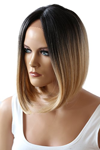 PRETTYSHOP Ombre Lace Front Wig Perücke BOB Kurzhaar -
