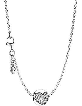 Pandora Damen-Halskette Pavé Herz 35356