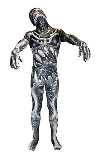 Morphsuits Monster Skull and Bones Skeleton Children's Fancy Dress (S, 6-8 Years) by (Skull And Bones Morphsuit)