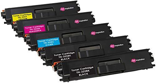 5er Set Premium Toner kompatibel für Brother TN325 HL-4140CN HL-4150CDN HL-4570CDW HL-4570CDWT DCP-9055CDN DCP-9270CDN MFC-9460CDN MFC-9465CDN MFC-9970CDW   Schwarz 4000 Seiten & Color je 3500 Seiten