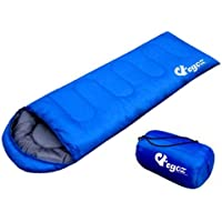 Peanut da EGOZ Facile da trasportare Sacco a pelo caldo adulto all'aperto sportivo campeggio Escursioni con Carry Bag (Blue)