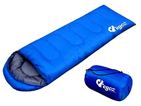 EGOZ Easy to carry blue Warm Adult Sleeping Bag Outdoor Sports Camping Hiking With Carry Bag