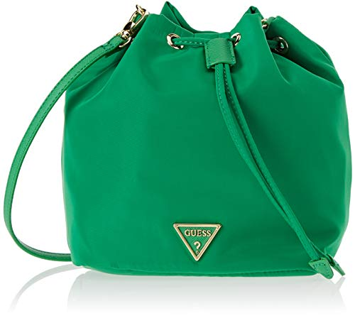 Guess Damen Did I Say 90 Tornistertasche, Grün (Green), 28x22x13 Centimeters