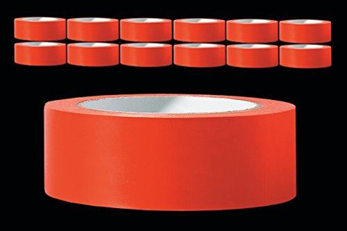 12 x PVC Schutzband glatt 30 mm PROFI Putzerband 33 m orange Putzband Bautenschutzband Putzer Klebeband Putz Abdeckband