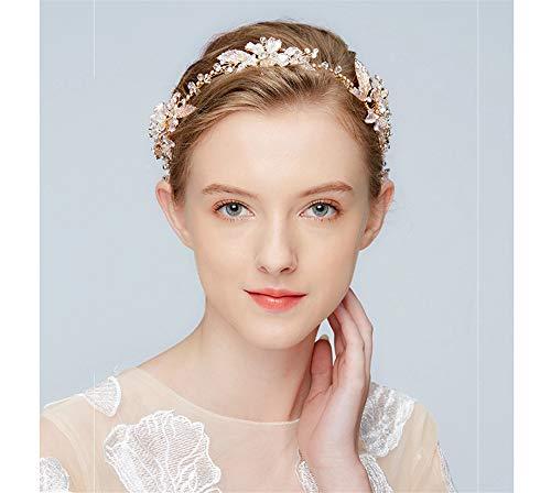 tes Accessoire Brautkleid Exquisite Elegante Hochzeit Diadem Haarband Handarbeit Diadem Gold Silber Legierung Diamant Stirnband ()