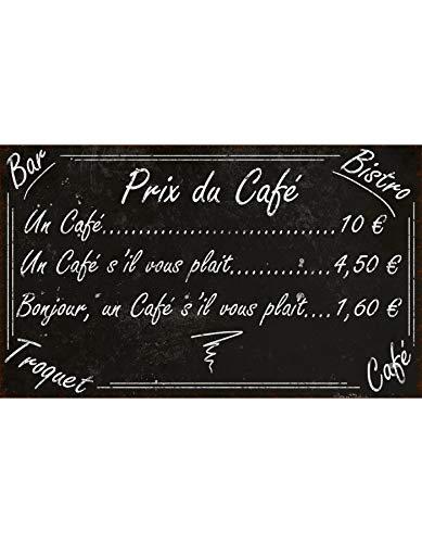 Plaque «prix du café » 25*15 cm