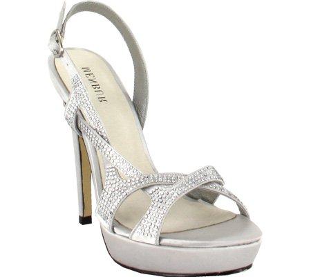 Menbur 005875 Femmes Synthétique Sandales Compensés Pearl Grey