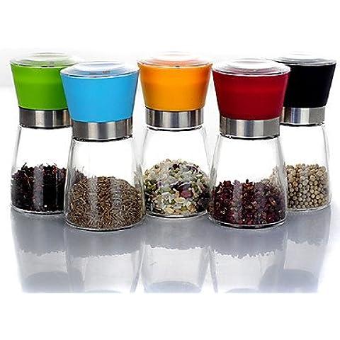 JSGN-Vetro Casual Pepper Mills in 5 colori ,