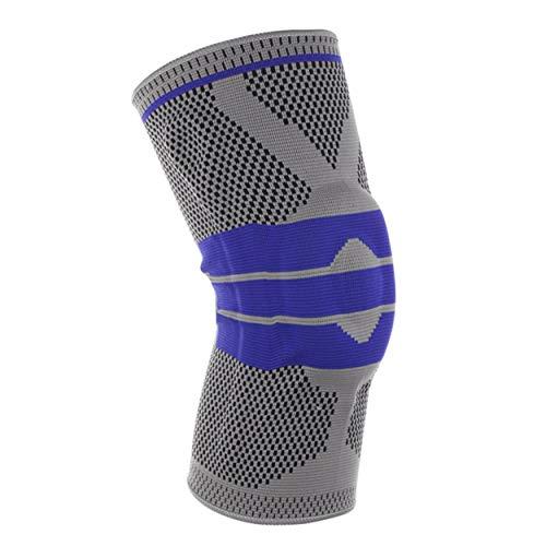 Fashionlook ginocchiere protezione ginocchio pieno autunno inverno full season elastico e traspirante rilievi prevenire sport ginocchio supporto brace - grigio xl