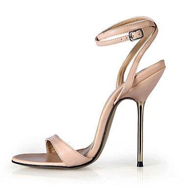LvYuan Da donna-Sandali-Formale Serata e festa-Cinturino alla caviglia-A stiletto-PU (Poliuretano)-Nero Blu Pelle nude