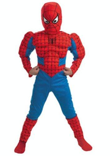 Cesar 82007602 - Spider Man Classic mit Muskeln Größe 128 (Größeninformation auf Verpackung: 8/10 years, T 3, 128 or 132 (Muskel Kostüme Spiderman)