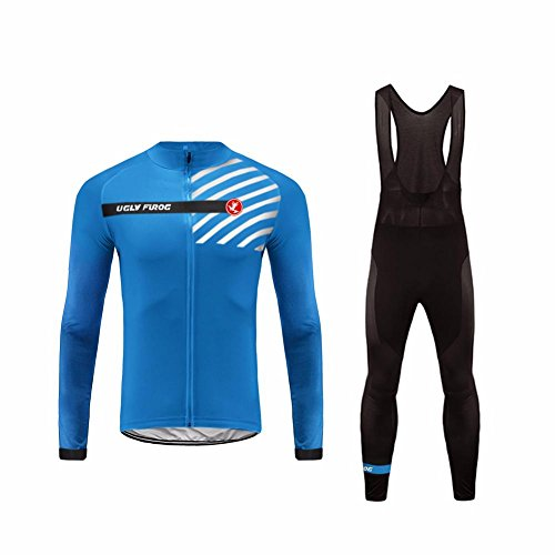 Uglyfrog #23 Radfahren Jersey + Lange Hose mit Gel PAD Langarm Winter with Fleece Bike Set (2015 Jersey Barcelona-lange)