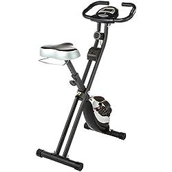 Ultrasport F-Bike - Bicicleta estática con sensores de pulso de mano (100 kg aproximadamente)