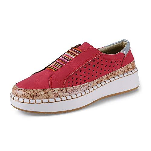 Mocasines Mujer Zapatos Alpargatas Plataforma Mujer Verano Loafers Plano 3.5CM Sneakers Cuña Zapatos...