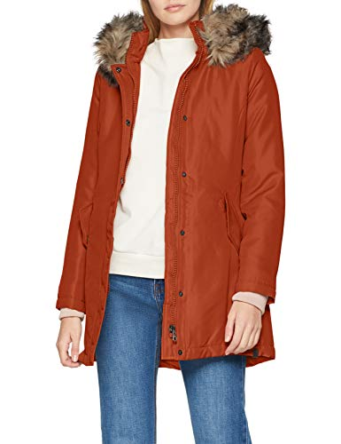 ONLY Damen Parka onlKATY Coat CC OTW, Orange Arabian Spice, 40 (Herstellergröße: L)