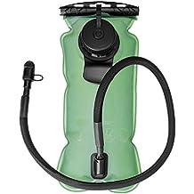 Bolsa de agua sin BPA aprobado por la FDA ideal para ciclismo, correr, senderismo, camping, gran apertura y fácil de limpiar (3 litros)
