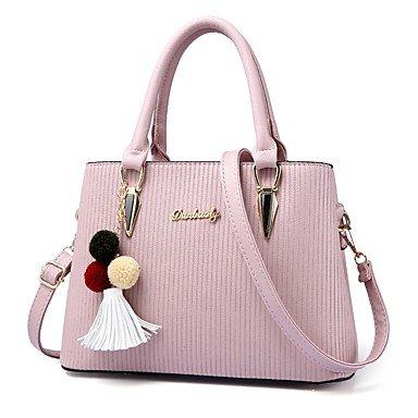 Damenmode PU Leder Schulter Messenger Crossbody-tasche/Handtasche Tote Pale Pink