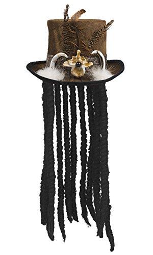 Boland 72183 Hut Voodoo Buluku mit Haaren, unisex-adult, One Size