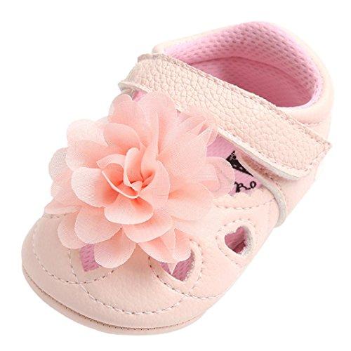 Für 0–18Monate, Türkei Baby Kinder Mädchen Blume Hohl Aus Sandalen Mode flach Pricness Schuhe Kinder Spring Summer Lovely Anti-Rutsch Slipper 12-18 Months ()