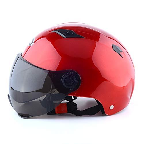 XuBa - Casco Moto Unisex Transpirable Resistente Viento