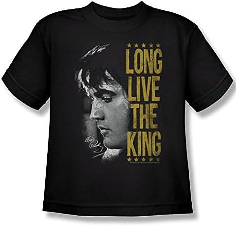 Elvis Presley - Jugend Long Live The King T-Shirt, X-Large, Black