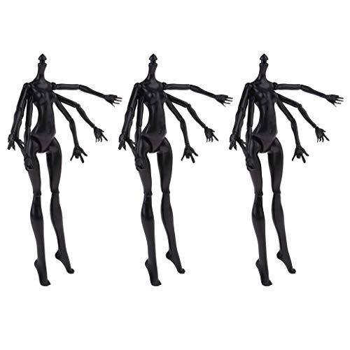 perfeclan 3 Stücke Flexible 15 Gelenke Puppe Nackte Spinnenform Körperteile Modell Für Monster High Dolls Cosplay Zubehör ( Schwarz )
