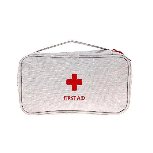 Romote Outdoor Camping Wandern Überleben Tasche Reise Notfall Rettung Erste-Hilfe-Kit Reise Medizin Tasche leer Medikamente Veranstalter, Lagerung von Vitaminen 1pcs Grau -