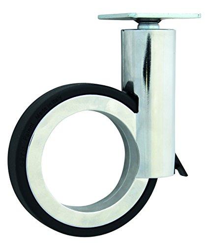 Newsbenessere.com 41ZOOoxH%2B9L Design di mobili ruote con piastra e freno in zama cromato/nero 120mm