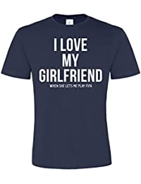 Edward Sinclair I Love My Girlfriend When She Lets Me Play FIFA Unisex T Shirt - Valentines Gift