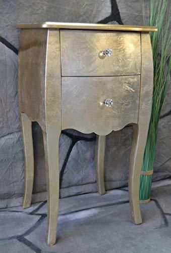Livitat® Kommode mit 2 Schubladen Pomp Gold barock antik pompös Landhaus LV2013