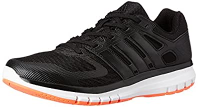 adidas Men's Duramo Elite M Black, White and Solar Red Mesh Running Shoes - 6 UK