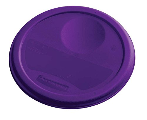 Rubbermaid 1980257Farbe Kodiert rund Container Deckel, passt 3,8l, klein, violett (12Stück) (Tupperware Set Rubbermaid)