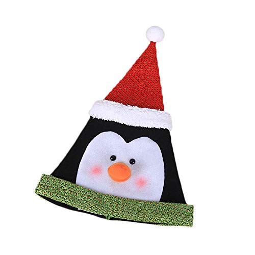 Weihnachtsmann Pinguin Kostüm - SuperSU Weihnachten ➱➲ 1 Stücke Nikolausmütze Weihnachtsmütze Weihnachtsdeko Xmas Party Deko für Kinder Erwachsene Weihnachtsmann Kostüm (Schneemann Weihnachtsmann Elch Pinguin)