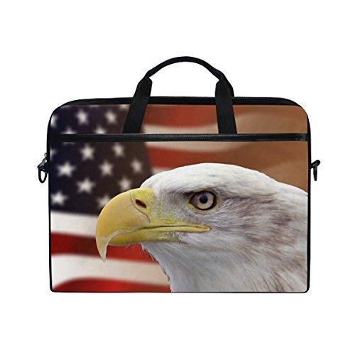 Ahomy Laptoptasche mit Schultergurt für 13,3-35,6 cm (13,3-14 Zoll) Laptops, amerikanische Flagge, Adler Whitehead (Flagge Amerikanische Notebook)