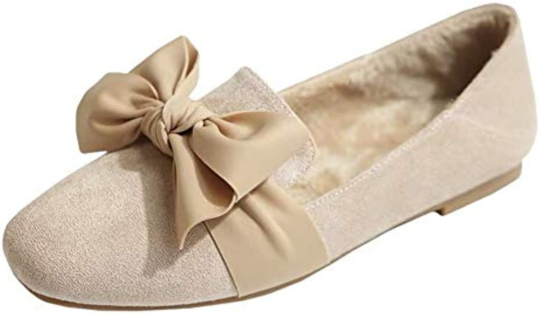 Scarpe basse da donna donna donna invernali più velluto caldo e confortevole antiscivolo scarpe casual arco resistenti all'usura | prendere in considerazione  | Scolaro/Ragazze Scarpa  e0583f