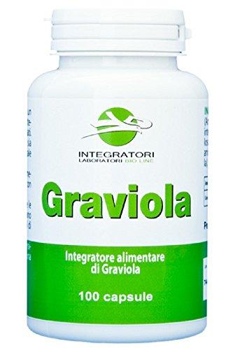 GRAVIOLA - Integratore alimentare di Graviola (Annona muricata L.), 100 capsule - 1000 mg per dose.