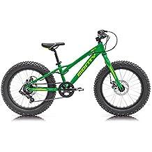 Monty Fatty Bicicleta, Unisex niños, Verde, Talla Única