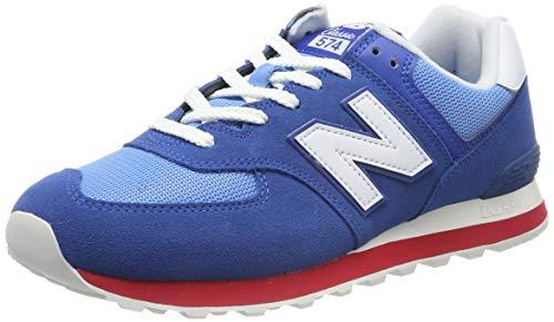 New Balance Herren 574v2 Sneaker, Blau Blue/Red, 47.5 EU