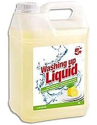Bidon de 5 litres de liquide vaisselle parfum citronné, dégraisse et fait briller.