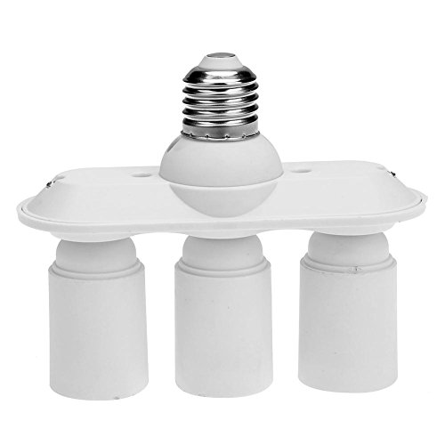 Demiawaking E27 VIS à tête de 3 + 1 Douille E27 de conversion universel pour Home Studio ampoules
